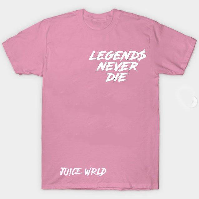 Jucie Wrld x Vlone Legends Never Die Pink Tee