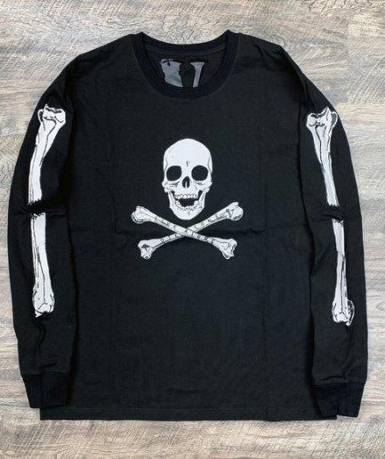 Vlone Skull and Bones BLACK FRIDAY Long Sleeve Tee