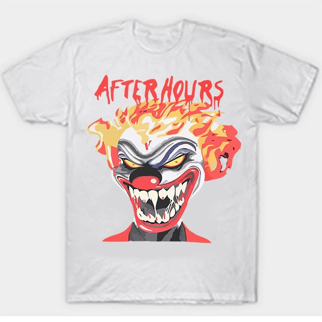 Vlone X The Weeknd After Hours If I OD Clown White Tee