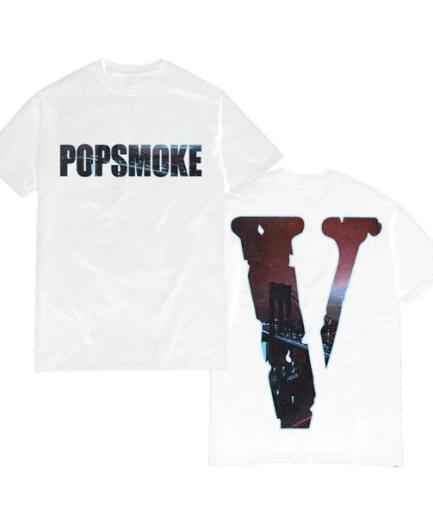 Pop Smoke x Vlone Wraith White Tee