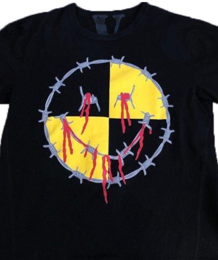 Vlone Asap rocky fuck testing Black T-Shirt