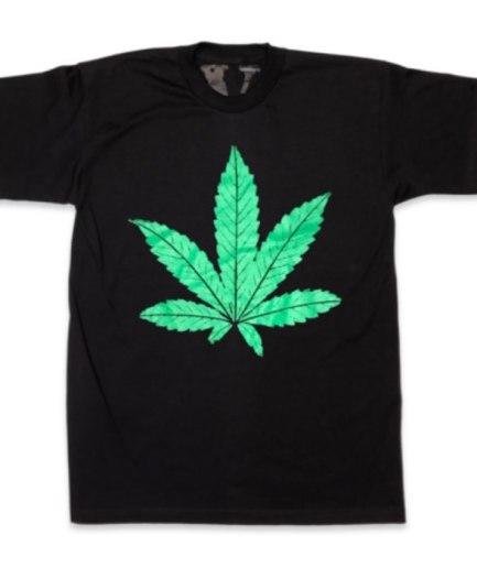 Green Leafe Dr-Dre Vlone Black Shirt