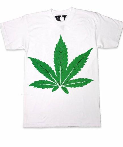 Green Leafe Dr-Dre Vlone White Shirt