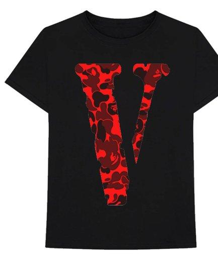 VLONE Camo Friend Black T-Shirt