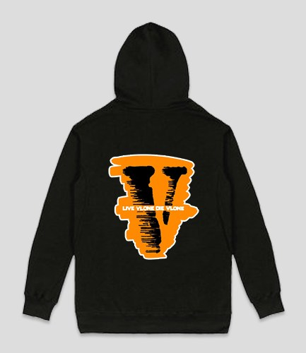 Live Vlone Die Vlone Black Hoodie