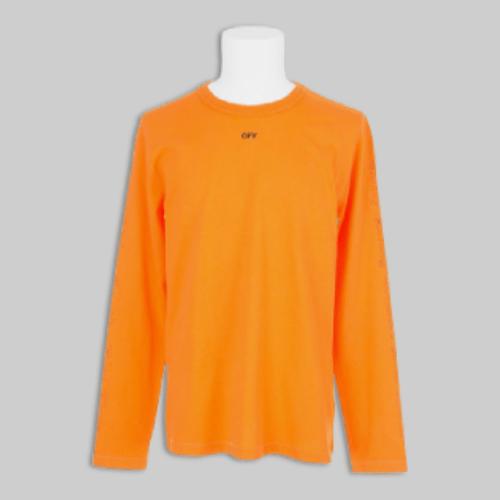 OFF-WHITE X VLONE Longsleeve-Orange-Front