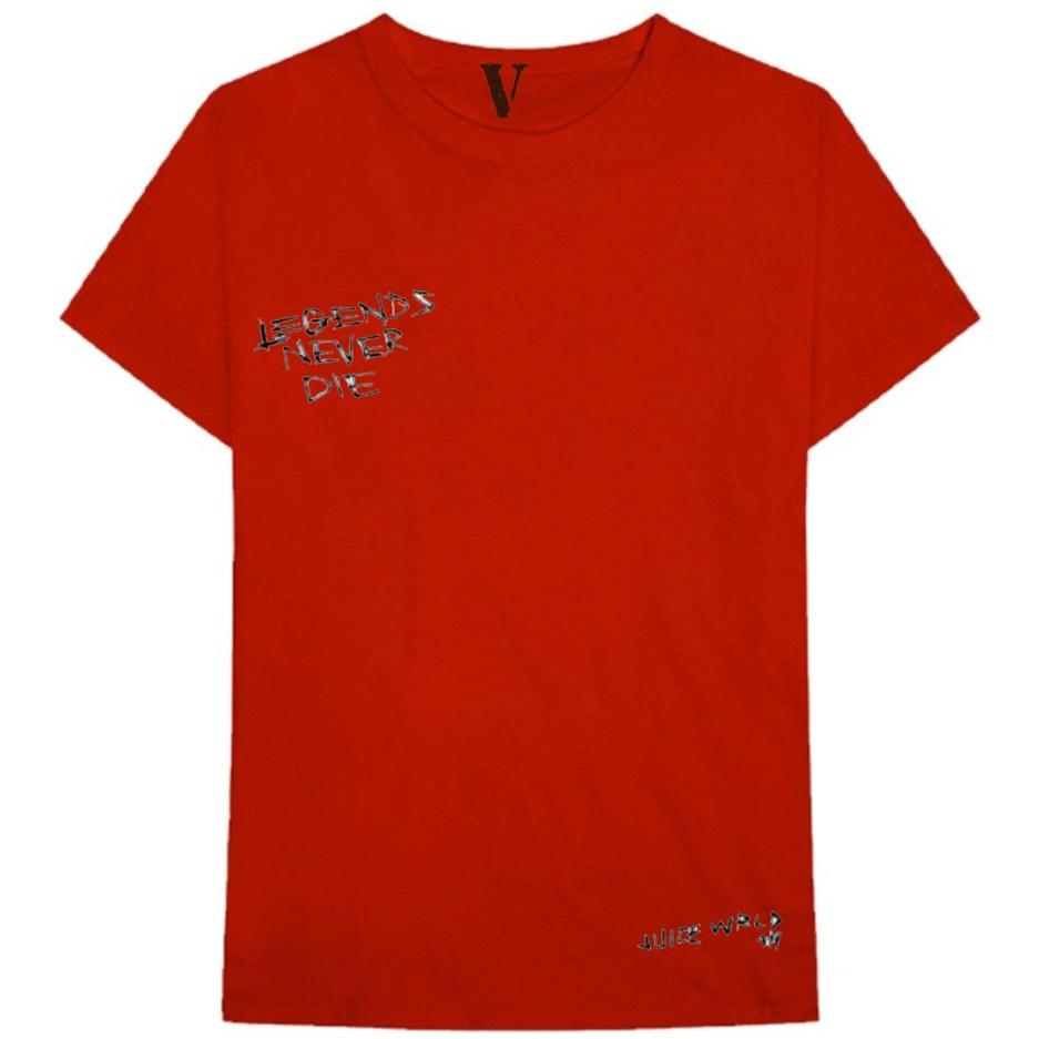 VLONE x Juice WRLD Legends Never Die T-Shirt Red