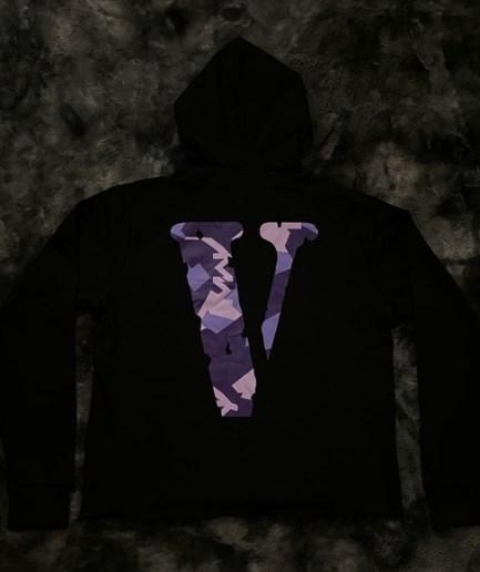 VLONE x Call of Duty Friends Purple Camo in Black Hoodie