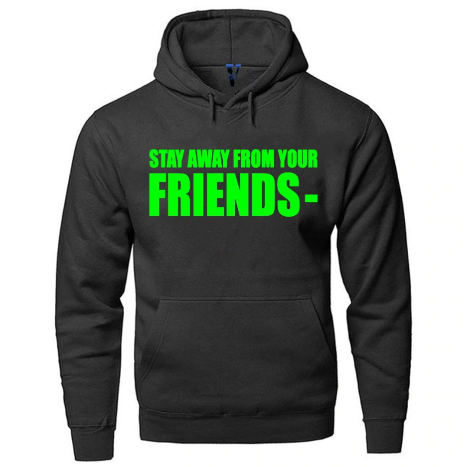 Vlone Stay Away From Your Friends Hoodie Black