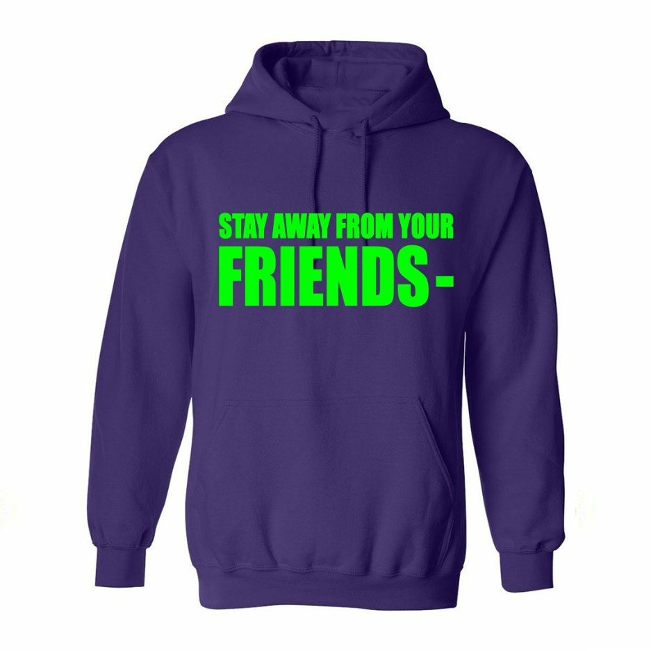 Vlone Stay Away From Your Friends Hoodie Purple