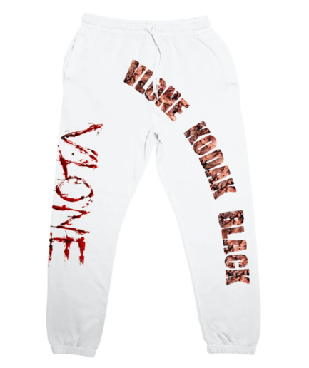 Kodak Black x Vlone Zombie Joggers White