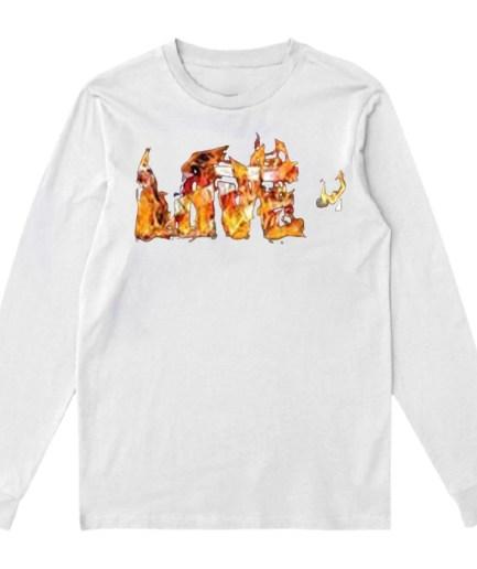 Vlone LOVE- Sweatshirt– White