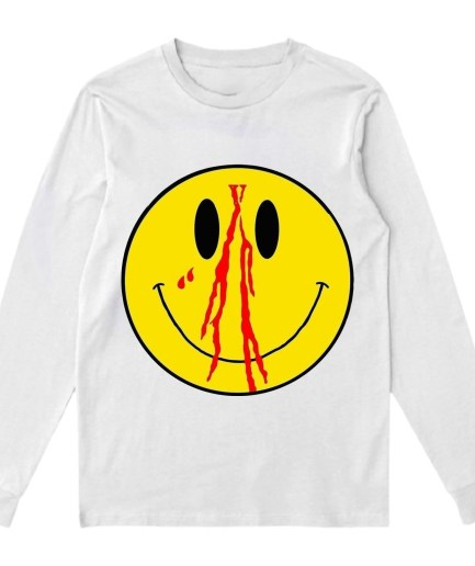 Vlone Blood Smiley Face Sweatshirt – White