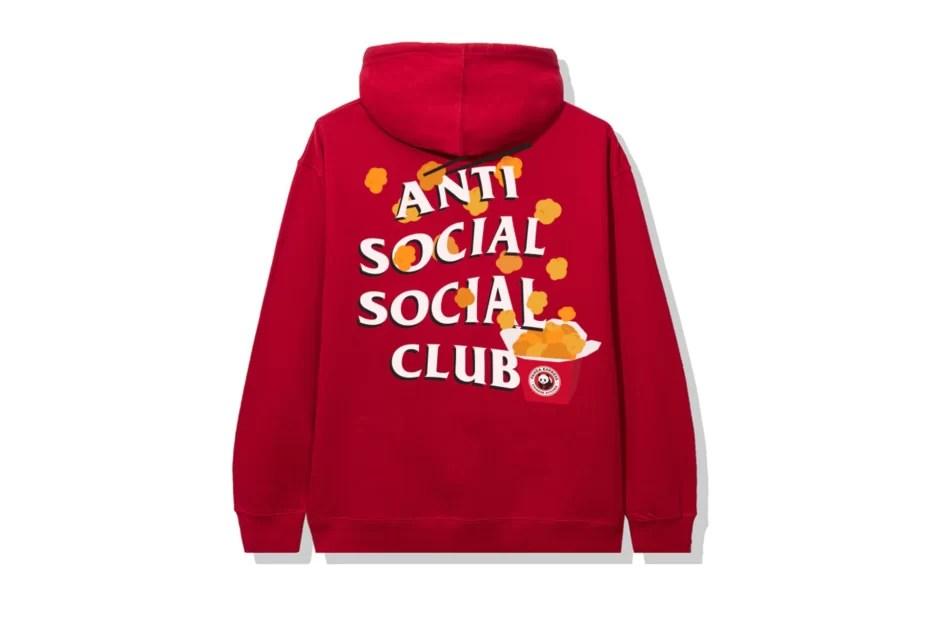 Anti Social Social Club x Panda Express Red Hoodie-Back