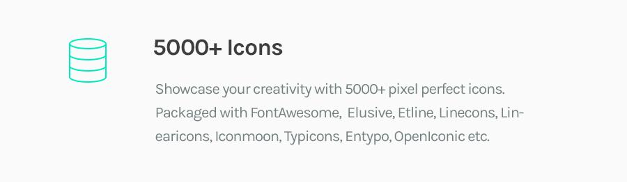 5000+ Icons