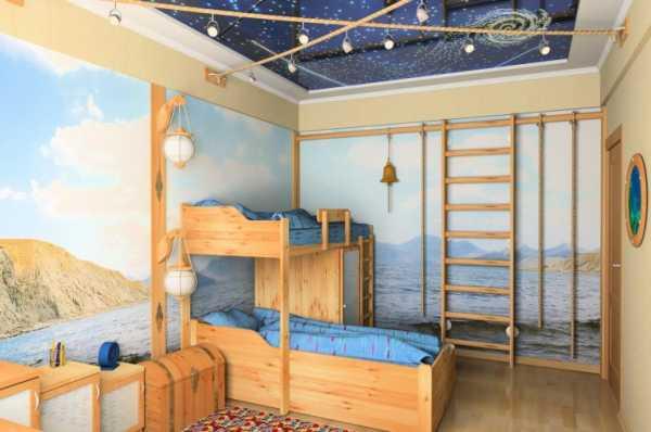 Натяжные потолки фото для детской двухуровневые – фото для ...