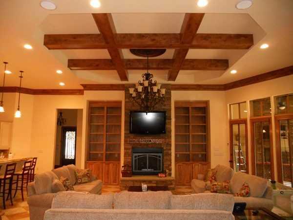 Подвесные потолки из гипсокартона зал фото – Потолок из ...