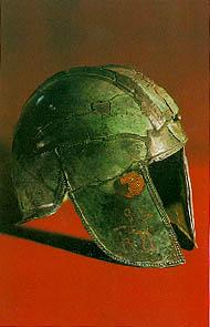 An iron helmet from Trebenishta
