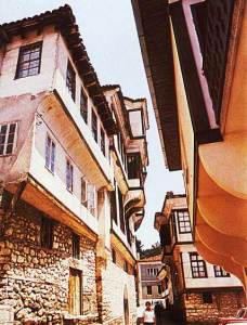 Ohrid Old town architecture