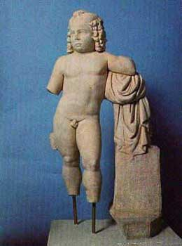 A statue of boy Dyonisius from Styberra
