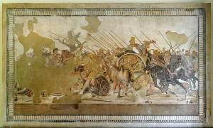 Battle of Issus Mosaic, National Archaeological Museum, Naples