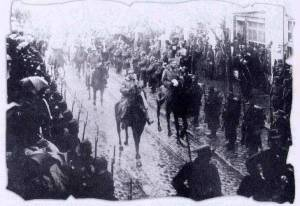Greek Army entering Solun 1912