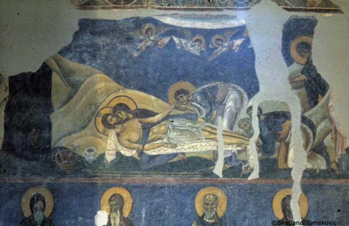Pieta, The Lamentation of Christ, Nerezi, 1164