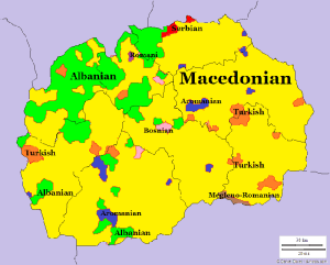 Languages spoken in Macedonia