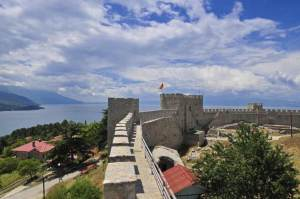 Samuil's fortress in Ohrid, Macedonia.