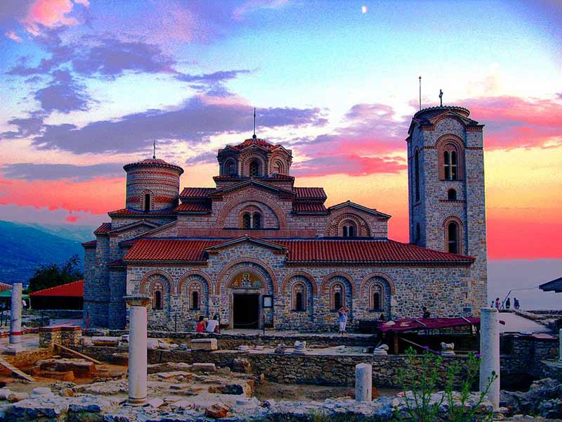 Church of Saints Clement and Panteleimon, Ohrid, Macedonia.