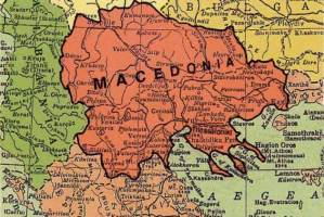 Map of Macedonia 1913.