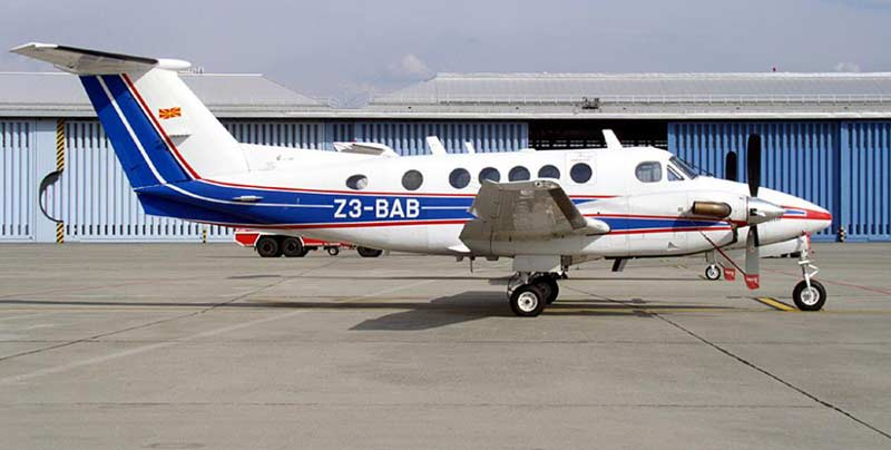 Macedonian Beechcraft 200 Super King Air