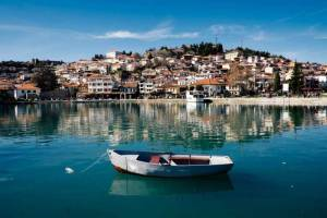 Ohrid view from the lake.