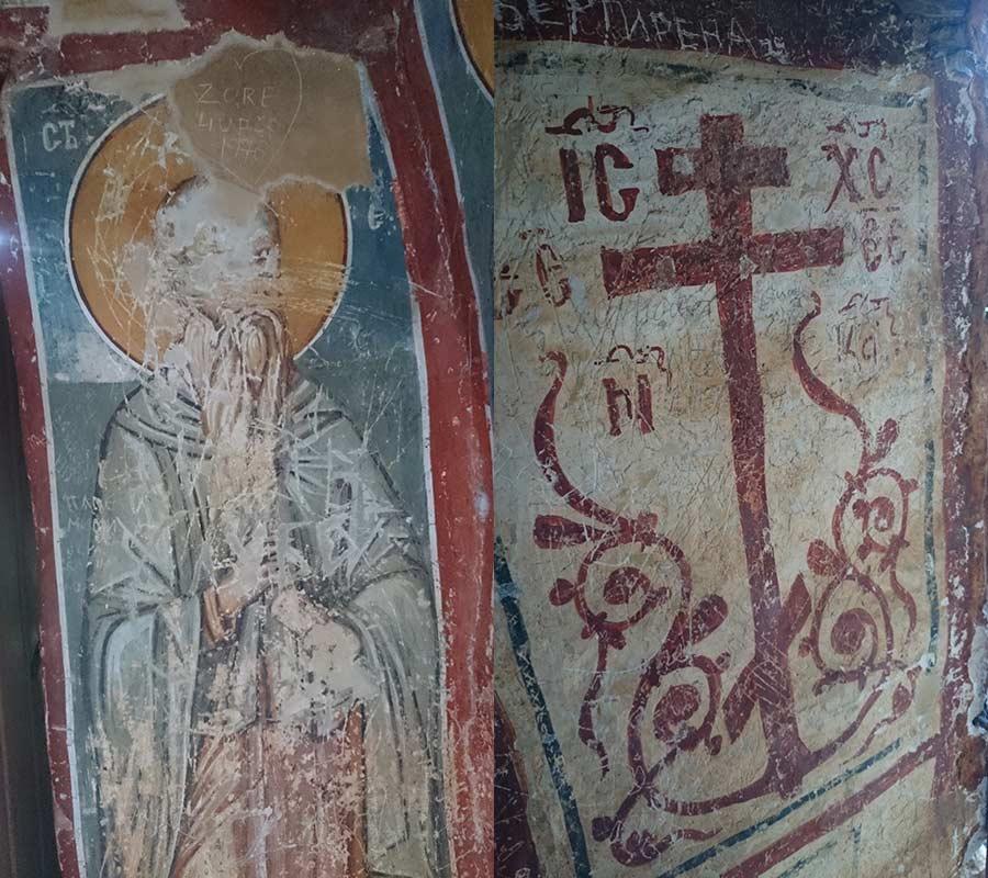 St. Athanasius cave church frescoes