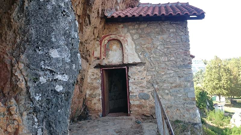 St. Athanasius cave church entrance