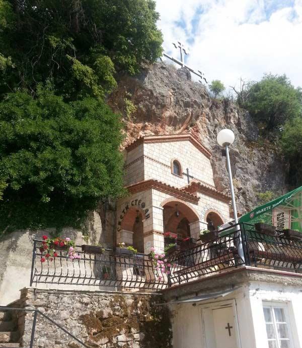 Cave church St. Stefan, Ohrid, Macedonia