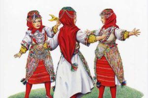 Modern children's costumes, Debarski Drimkol, village Lukovo.