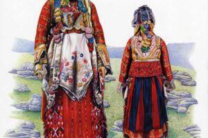 Bridal costume, Macedonian Muslims, village Gorno Vranovci.