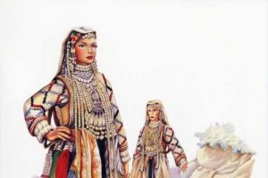 Bridal costume, Gorni Polog, Gostivar - village Debreshe.