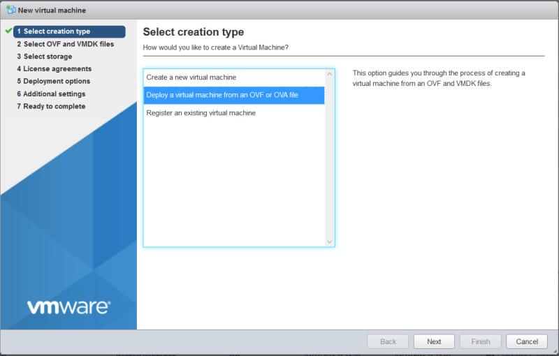 AWS Greengrass on VMware vSphere - Select creation type