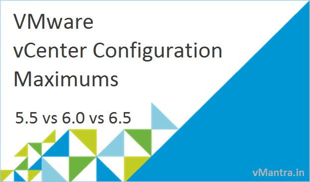 VMware vCenter Configuration Maximums