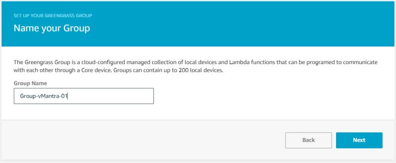 Configuring AWS Greengrass on VMware vSphere Name Group