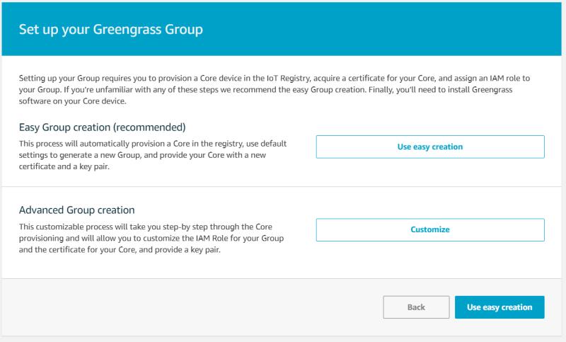 Configuring AWS Greengrass on VMware vSphere Create Group