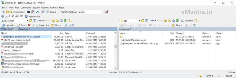 Configure AWS Greengrass on VMware vSphere - file transfer
