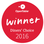 Open Table Winner Diners Choice 2016