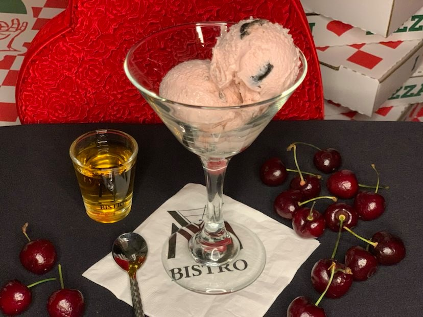 CBD Infused Cherry Vanilla Bourbon Boozy Ice Cream