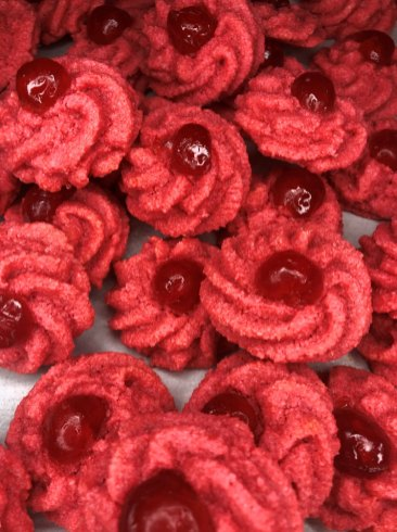 Red Cookies for Valentines Day 2021
