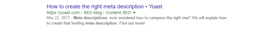 An example of a meta description with a friendly tone.