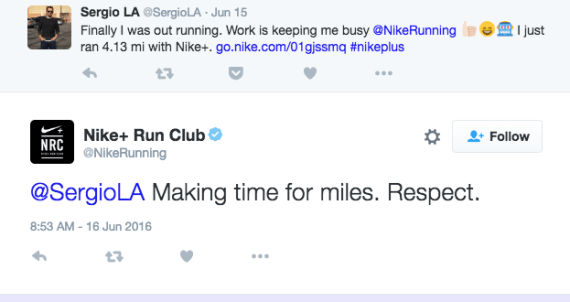 Nike's customer engagement on Twitter