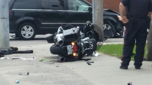 Motorcyclist charged after accident yesterday - BayToday.ca